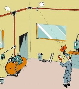 Läcksökning av tryckluftssystem